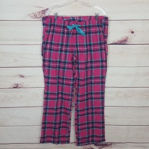 Old Navy | Pink/Purple/Teal Plaid Pj Pants L